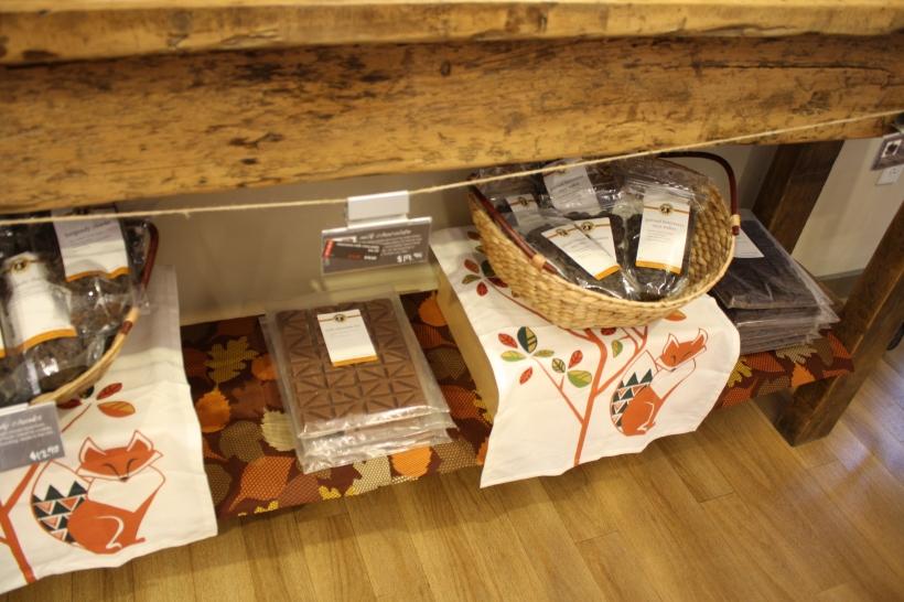 ils vendent aussi des chocolats, et entre autres des tablettes de chocolat géantes!