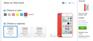 www.apple.com en rouge, uniquement.
