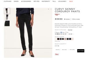 pantalon slim en velour côtelé gris roche (j'ai déjà le bordeaux foncé, il est génial)